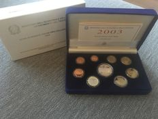 Italy – Year pack (Proof) 2003 incl. silver 5 Euro