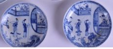 2. Ca Mau Shipwreck Porcelain Cargo Performing for the Mandarin Saucer Dish - China - c1725