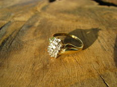 Yellow and white gold ring with diamonds, 0.38 ct – NO RESERVE -