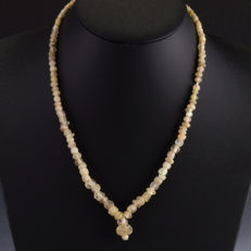 Necklace with Roman glass and rock crystal beads - 52 cm