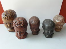 5 stone classic character heads