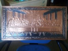 Beautiful vintage embossed picture of Last Supper
