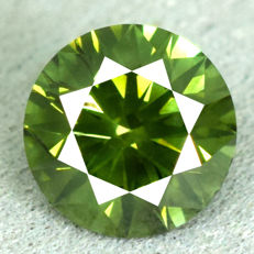 Green diamond - 1.09ct - EXC/EXC/EXC