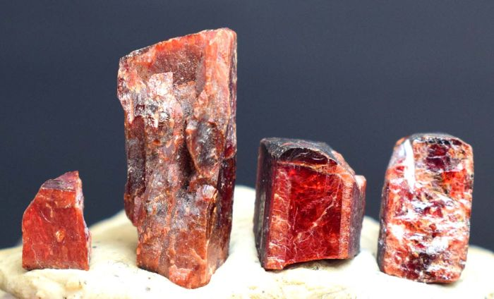 Rare Mineral - Top Red Color Natural Tantalite Crystals Lot - 26 gm (4)