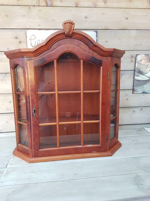 Walnut hanging display cabinet - 20th century