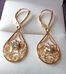 14kt Rose Gold Drop Earrings 2.6g