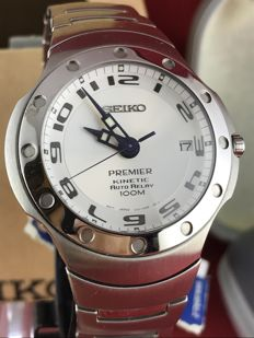 Seiko Kinetic Premier Auto Relay Ref. 5J22 0D60, 1990s, N.O.S.