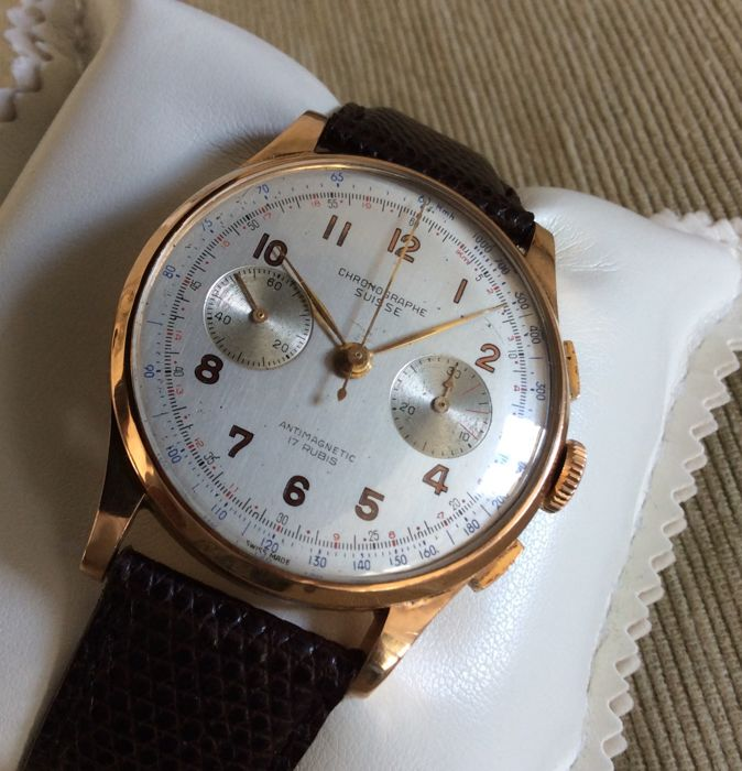 Grand Swiss Chronograph – 1940s – overhauled.