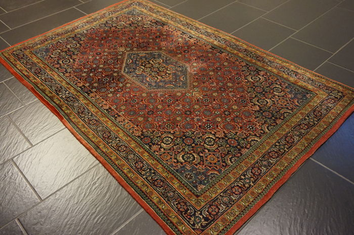 Oriental carpet Indo Bidjar Herati runner 120X190 cm made in India gallery carpet