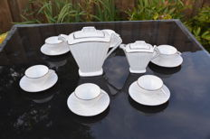 Descottes, Reboisson & Baranger & Cie  Limoges art deco porcelain tea service from 1925