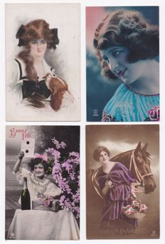 Fantasy-Nostalgia-Varied lot 170 x-Lovely and fun postcards