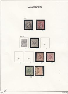 Luxembourg 1852/1864 – Selection classic stamps – Michel 1, 2, 4  and  8/11