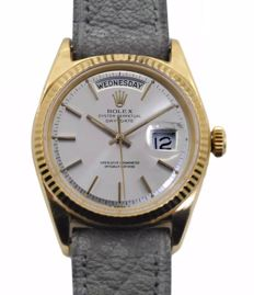 Circa 1960's Men's/Unisex Rolex President Oyster Perpetual Day-Date 18k Yellow Gold