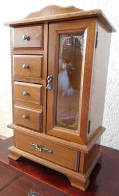 Old wooden jewellery cabinet