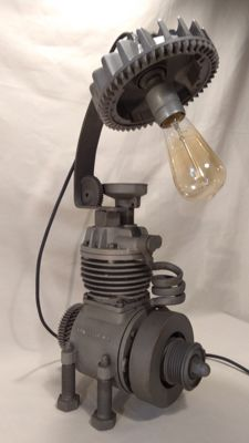 "Industrial loft lamp ""scharlotta art."" #3"