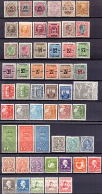 Denmark 1904-1935 - Various stamps and series, Mint Never Hinged