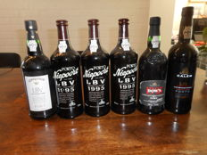 Late Bottled Vintage Port: 3x 1995 Niepoort & 1x 1995 Dow's & 1x 1996 Silva & Cosens Conqueror & 1x 2000 Calem - 6 bottles total