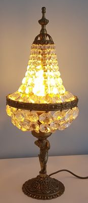 Crystal table lamp, 1st half of the 20th century.