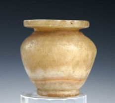 An Egyptian Alabaster Cosmetic Vessel, 45 mm