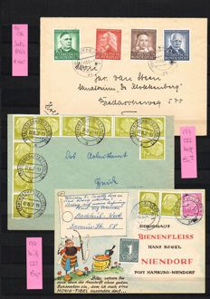 Federal Republic of Germany - 100 better postal items from 1950 onwards, many Heuss and Posthorn, many WAAGERECHT