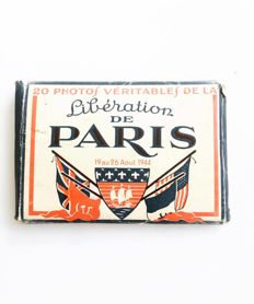 Box of 20 photos of the liberation of Paris format 9.5 cm by 6.5 cm black and white