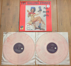 The Rolling Stones- Fort Worth Girls 2lp/ Limited, numbered edition of 500 copies worldwide on pink marbled vinyl/ NEAR MINT & already out of print!