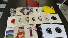 "Beatles solo  - 7"" collection from 20 Singles in vintage sixties box."