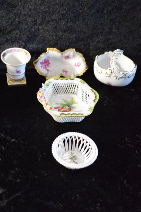 Herend Mixed Lot - 5 Pieces