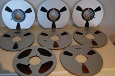 8x metal reels with tapes 26 cm