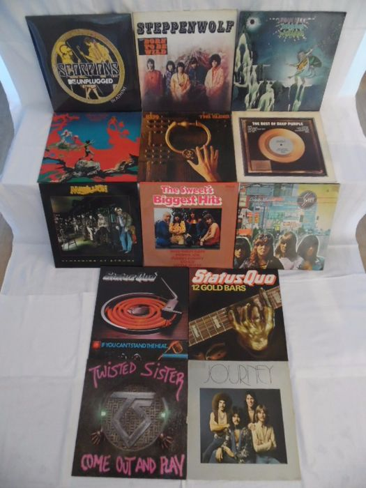 Beautiful Lot  of 13 Albums - In 15 Records - Of Hardrock & Heavy Metal - Scorpions - Steppenwolf - Uriah Heep ( 2 ) - Kiss - Deep Purple -  The