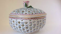Candy bowl in hand painted St. Etienne porcelain