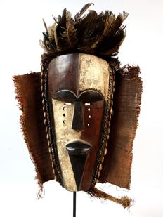 Large African tribal spirit mask - ADUMA - Gabon