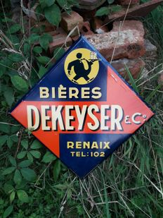 Bieres DEKEYSER RENAIX - Belgian advertisement beer sign 1930 's - Belgium