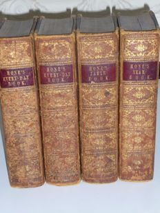 William Hone - A set of 4 year / day books - 1841