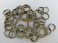 Celts - Collection AE ring money - Central Europe - 1st / 2nd century B.C.