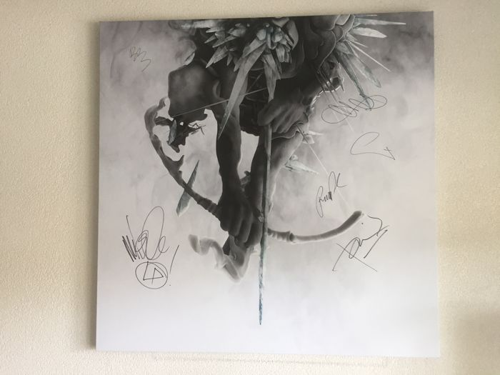 Signed canvas album artwork Linkin Park