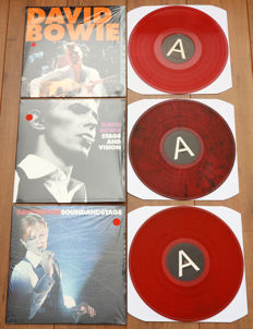 David Bowie- Great lot of 3x limited edition RED vinyl editions: Unplugged, Stage And Vision & Soundandstage