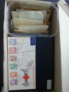 The Netherlands and Overseas - batch of stamps and letters/covers in booklets, bags and album