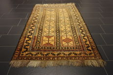 Antique hand-knotted Persian collector's carpet Baluch made in Iran 130 x 205 cm