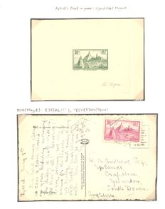 France 1933 - Thematic collection on Le Puy-en-Velay including signed artist's proof - Yvert 290