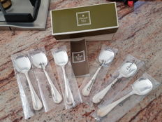 six ice cream spoons from Christofle; Spatours model