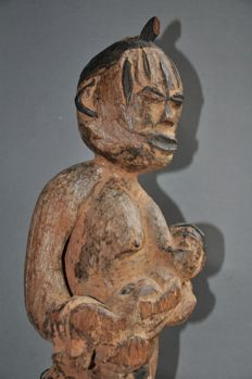 Large hardwood maternity figure-IBO-Nigeria