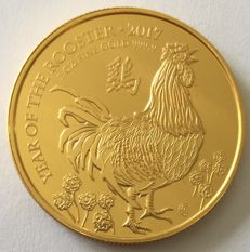 Great Britain - 100 Pounds 2017 'Year of the Rooster' – 1 oz Gold