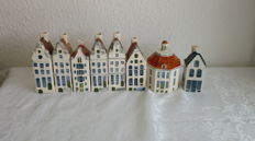 8 ceramic houses Amsterdam