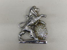 Beautiful Vintage Chrome Plated Lion Mascot Cast by Hertbert & Sons Ltd of England 1950's