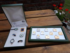 Collection of Lacoste pins in 2 boxes, shirts and Roland Garros - Arthus Bertrand