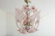 Italian vintage hanging lamp - Murano glass - 1950s - exceptional design.