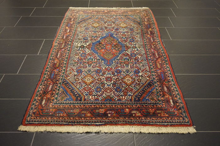 Persian carpet Malayer Hamadan 113x210 cm natural colours made in Iran
