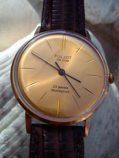 POLJOT DE LUXE SLIM - Russian USSR men's watch from 1968