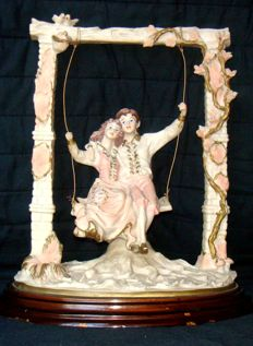 SCAGGIARI (Capodimonte) - large sculpture in porcelain, signed